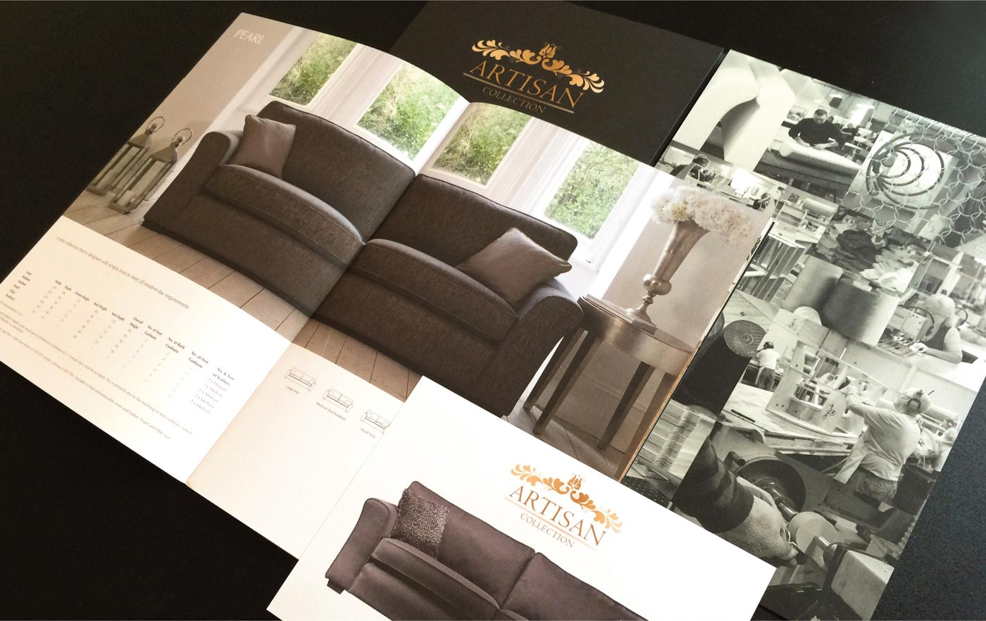 Exclusive sofa range sales support brochure