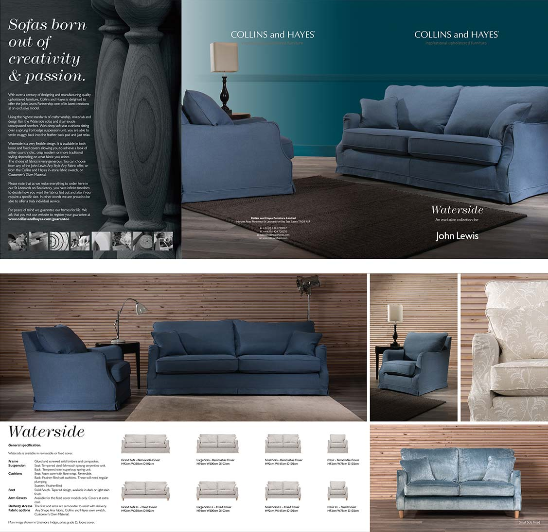 Exclusive sofa range for John Lewis Store